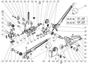 MUL-16 COMB HANDLE ASSEMBLED -
