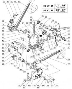 MUL-20 COMB HANDLE Assembled -